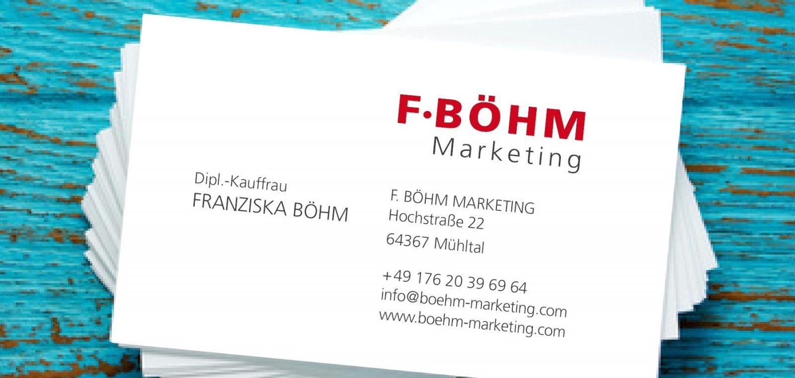 Startbild F Boehm Markting 2018 F Böhm Marketing